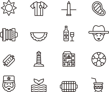 argentine: ARGENTINA outline icons