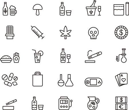 general idea: Drogas y adicciones iconos de esquema
