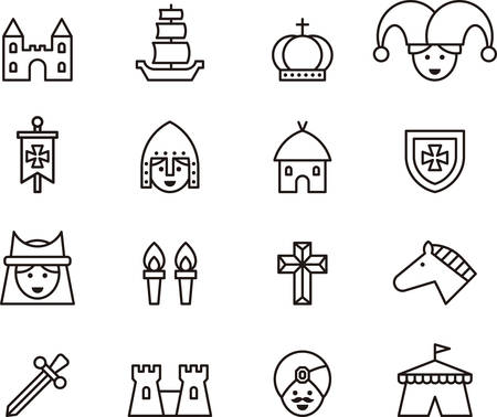 MEDIEVAL outline icons
