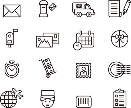 post: POST SERVICE outline icons