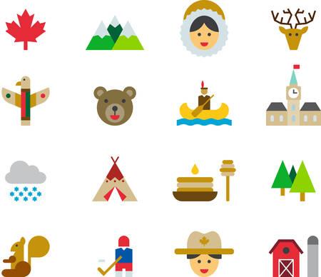 wigwam: CANADA icons
