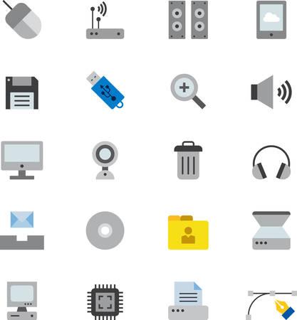 technology: COMPUTER & TECHNOLOGY icons Illustration