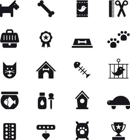 PETS glyph flat icons
