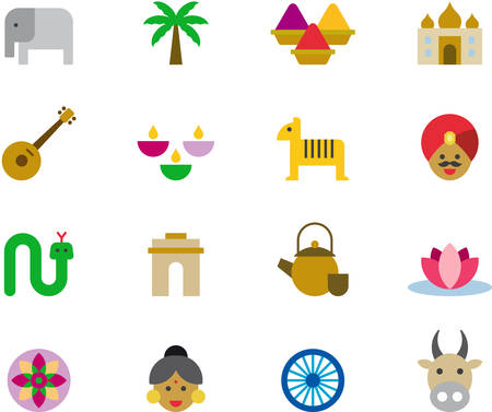 INDIA colored icons