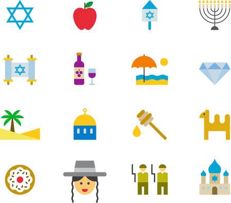 candelabrum: ISRAEL icons