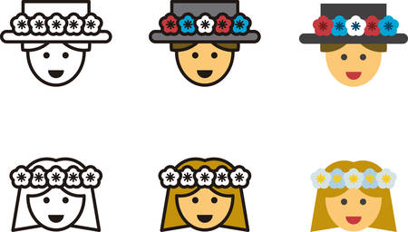 headpiece: BRITISH man and woman icons