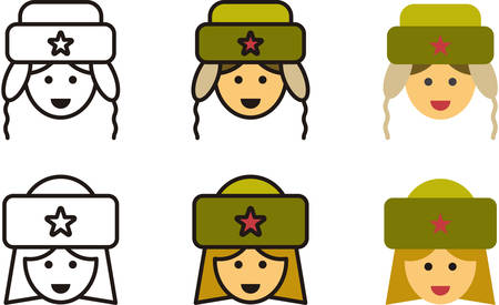 russian: SOVIET man and woman icons