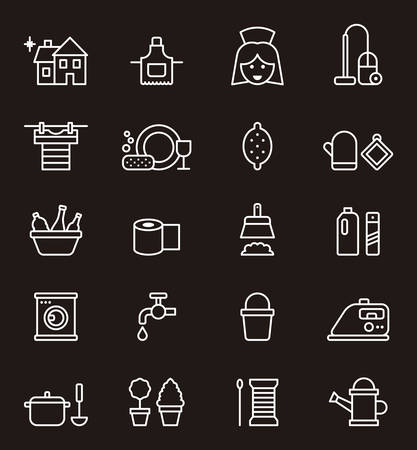 hoover: Housekeeping outline icons