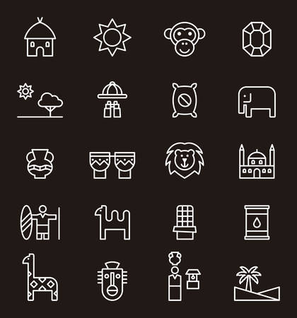 masai: AFRICA outline icons