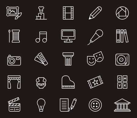 arts and entertainment: ARTS & ENTERTAINMENT outline icons