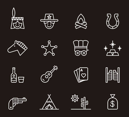 FAR WEST white outline icons