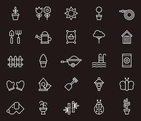 garden fountain: GARDEN outline icons