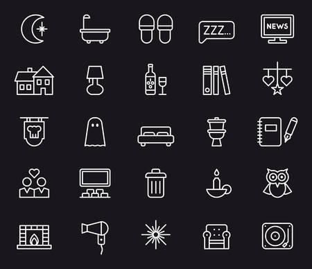 snoring: GOOD NIGHT outline icons