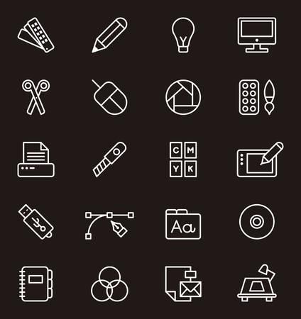 graphic design: GRAPHIC DESIGN outline icons
