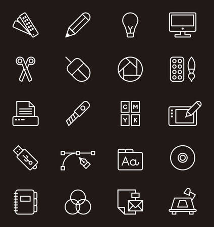 GRAPHIC DESIGN outline icons