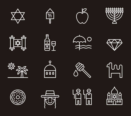 the rabbi: ISRAEL outline icons