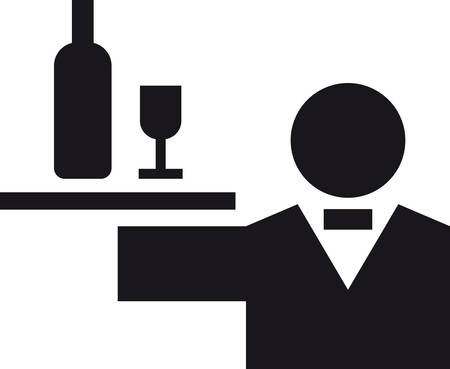 glyph: WAITER glyph to icon Illustration
