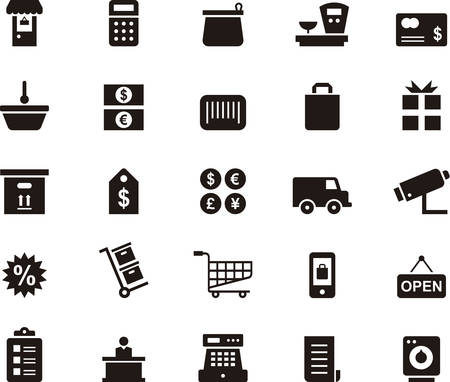 glyph: SHOPPING glyph icons Illustration