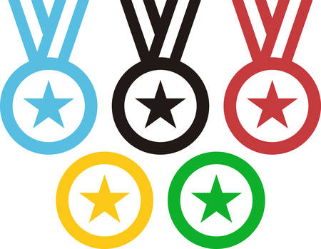 medals: 5 Medals evoking the Rings