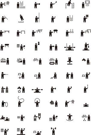 natación sincronizada: iconos de los deportes de glifos