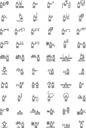 pentathlon: SPORTS outline icons