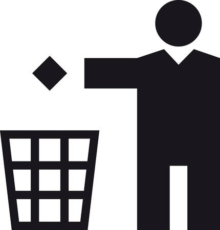 throwing paper: a Man throwing a paper in a bin