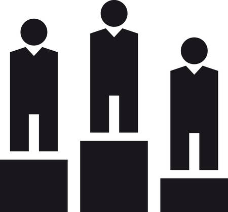 pictogram people: PODIUM