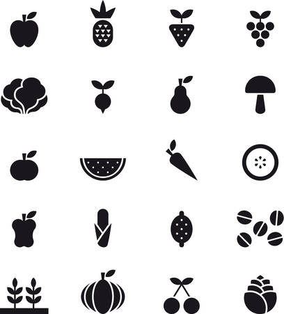 glyph: FRUITS & VEGETABLES glyph icon
