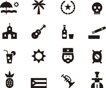 CUBA icons Vectores