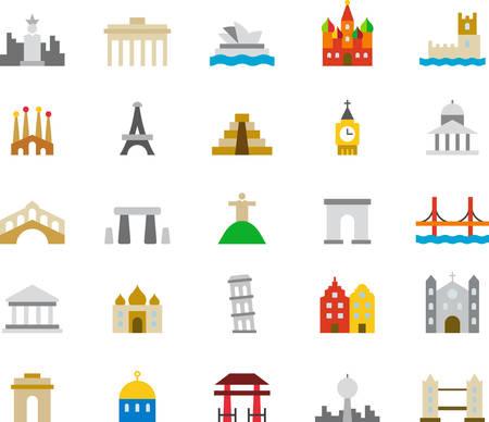 monuments: MONUMENTS icons Illustration
