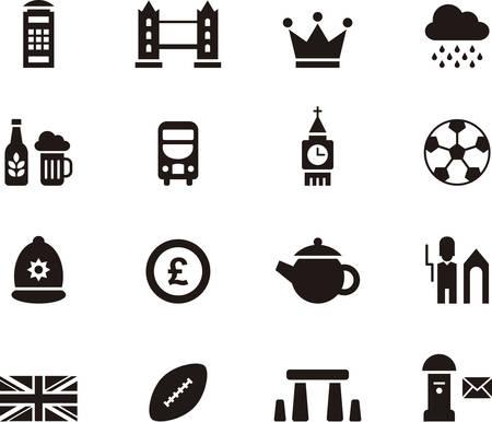 UK icons Vectores