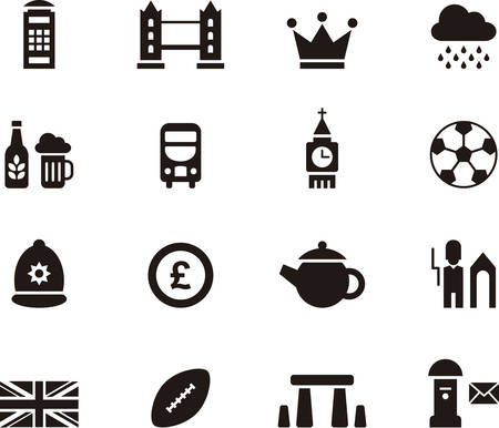 web design bridge: UK icons Illustration