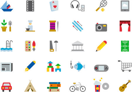 LEISURE flat colored icons