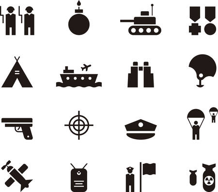 military and war icons: MILITARY icons