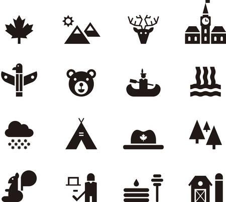 tepee: CANADA icons