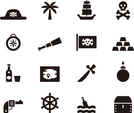 skull and crossbones: PIRATE glyph icons