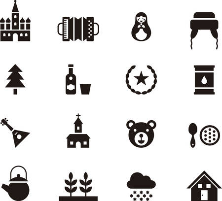 RUSSIA icons Vectores