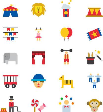 CIRCO iconos de colores planos