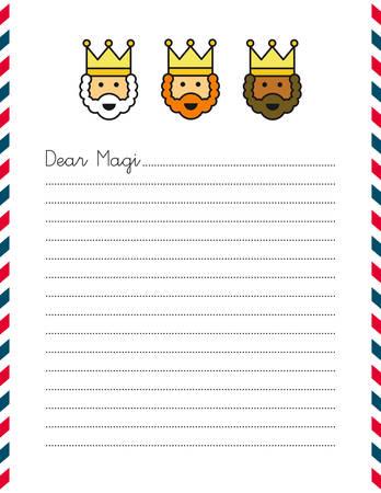 gaspard: Letter template Illustration