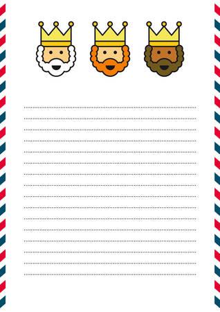 caspar: Letter template Illustration