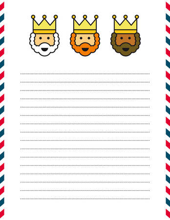 balthasar: Letter template Illustration