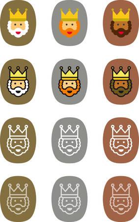 caspar: Christmas icon labels