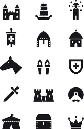 buffoon: MEDIEVAL black icons