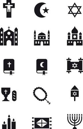 chanukiah: RELIGIONS black icons