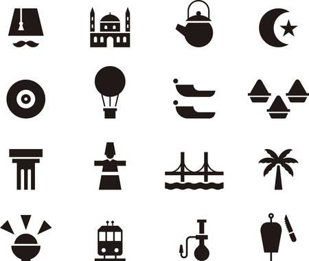anatolian: TURKEY black icons