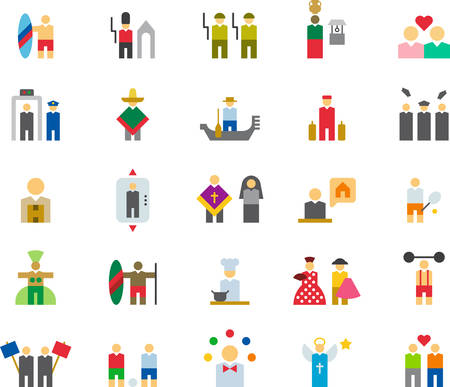 bullfighter: PEOPLE colored flat icons