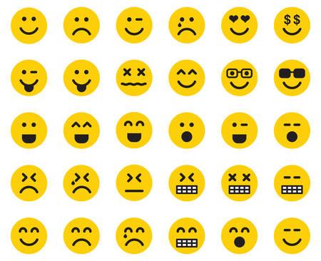 emotikony Ilustracje wektorowe
