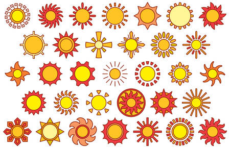 colored: SUNS filled line icons