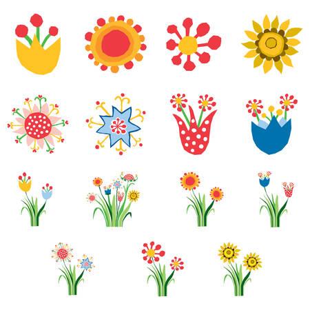 Abstrakte Blumen Illustration