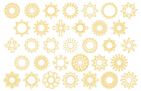 yellow line: SUNS yellow line icons